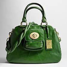 Green coach purse