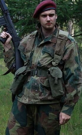 Congo Mercenary Reenactor