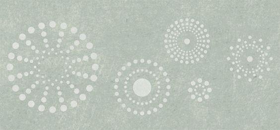 Kaleidoscope Border Stencil by Stencilease on Etsy