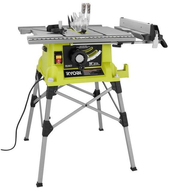 Ryobi 10 In. 15 Amp Portable Table Wood Workplace Saw With Quick Stand - New #Ryobi
