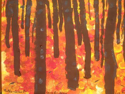 Forêt en automne à la manière de Gustav Klimt