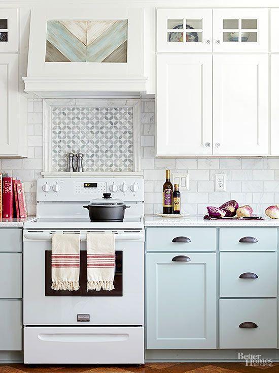 cottage kitchens tile ideas cabinet colors pastel upper cabinets