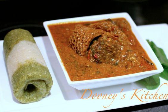 Edible Nigerian flag - eba version - Dooney's Kitchen