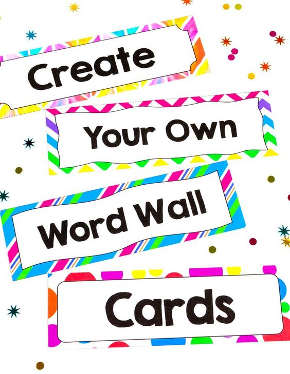 Own Word Wall Cards for any subject area with these editable templates ...
