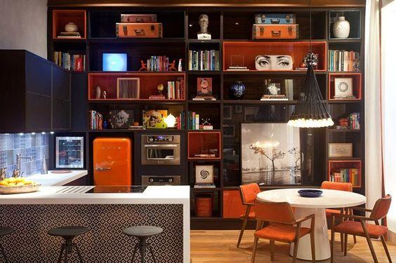 cozinha integrada - kitchen - orange