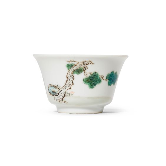 A FINE FAMILLE ROSE BELL-SHAPED CUP, YONGZHENG PERIOD (1723-1735) OR LATER | Christie's
