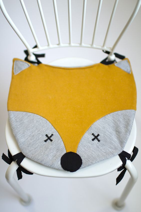 fox chair pillow from póh, kids deco, kid's room, https://www.facebook.com/poh.projekt?ref=hl