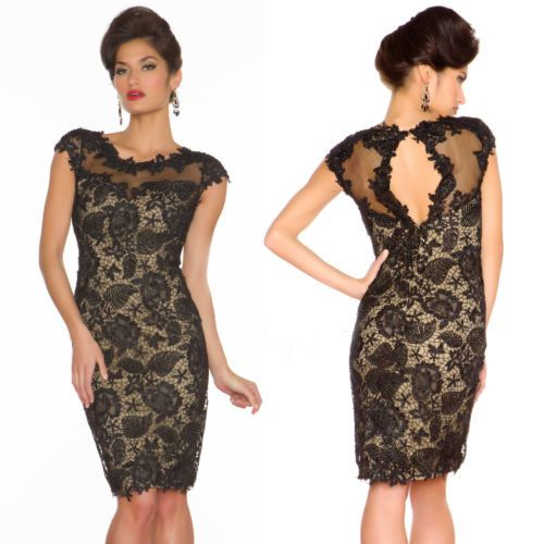Lace Cocktail Dresses With Sleeves - Ocodea.com