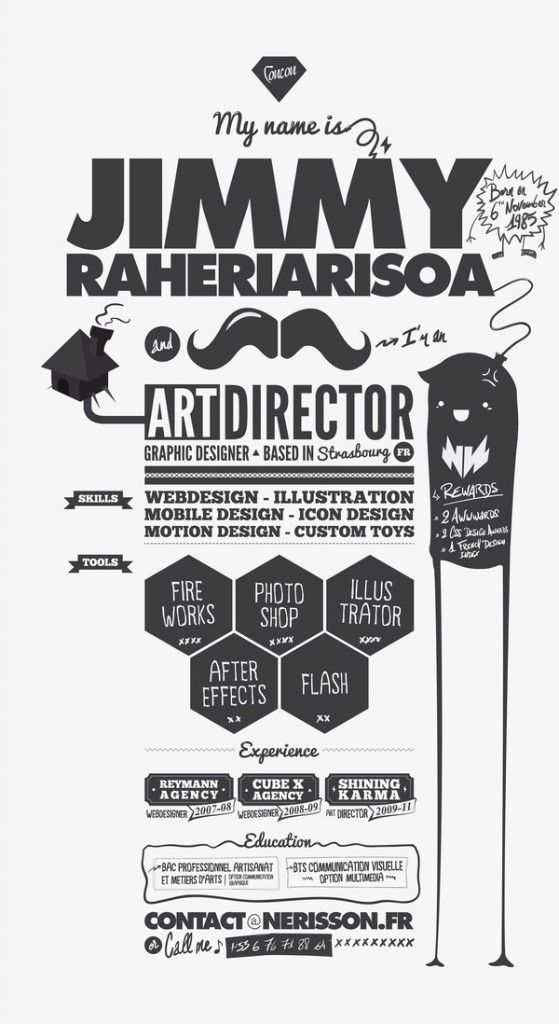 14 Stunning Examples of Creative CV/Resume Different shapes