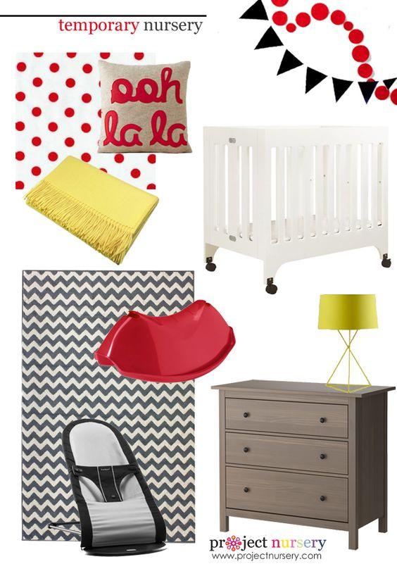 Ideas for a nursery in a temporary home - #designboard #nursery