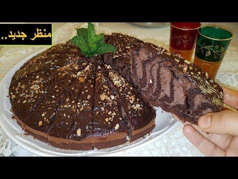 كيك الزيبرا الجديد بطريقتي الخاصة كل ضيوفي سألوا عن شكله و مقاديره تيحمق بكل معنى فالكلمة Youtube Desserts Food Cake