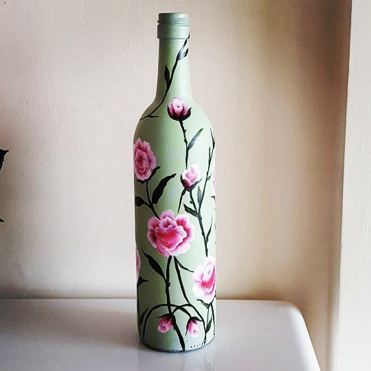 70 Adorable Wine Bottle Painting Ideas For Diy Home Decor Bottle Painting Wine Bottle Diy Home Decor
