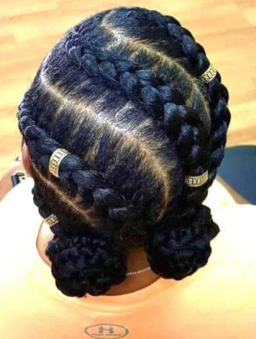 50 Incredible Natural Hairstyles For Black Women Goddess Braid