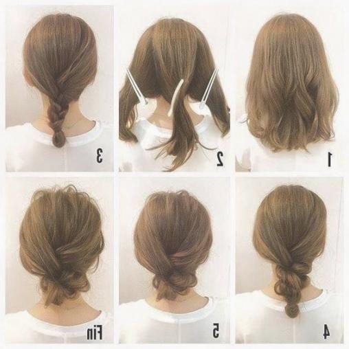Schon Einfache Frisuren Fur Mittellange Haare Zum Selber Machen With Images Hair Up Styles Medium Hair Styles Easy Updos For Medium Hair