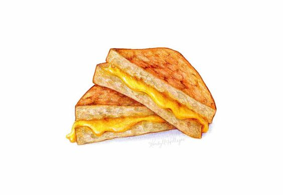 Grilled Cheese Sandwich // Food Illustration // Art print, Art for kids
