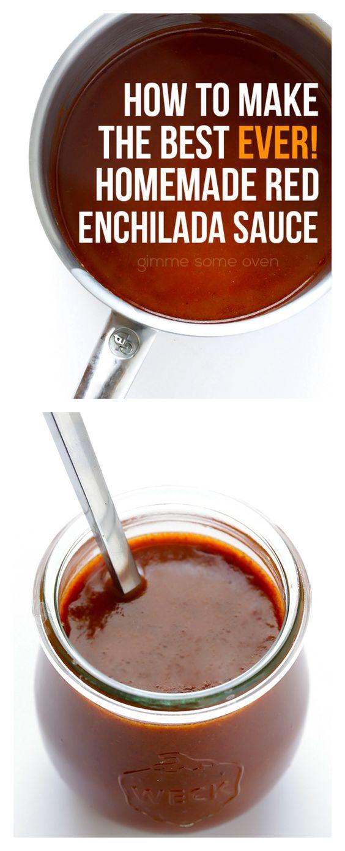 Red enchilada sauce, Enchilada sauce and Enchiladas on Pinterest