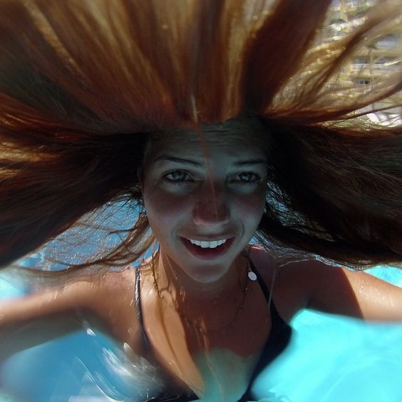 Mermaids don't have bad hair days. Photo by @elisariquezes. #GoProGirl
