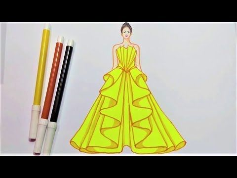 How To Draw Dress Drawing Dress Designs Step By Step Dress Design Sketches Fashion Design Drawing Designs To Draw