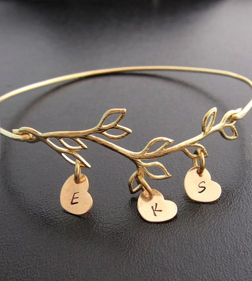 sweet gold family tree bracelet