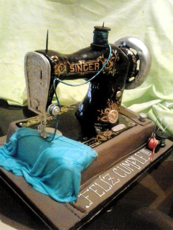 Pastel Máquina de Coser