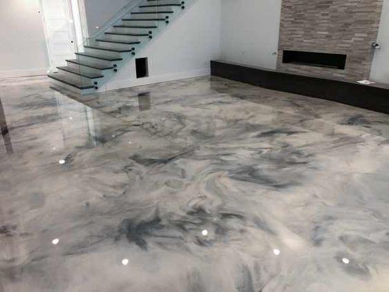 Marble Metallic Floor Designs Glossy Floors Serving Ar Ok Mo Tx In 2020 Metallic Epoxy Floor Epoxy Floor Polished Concrete