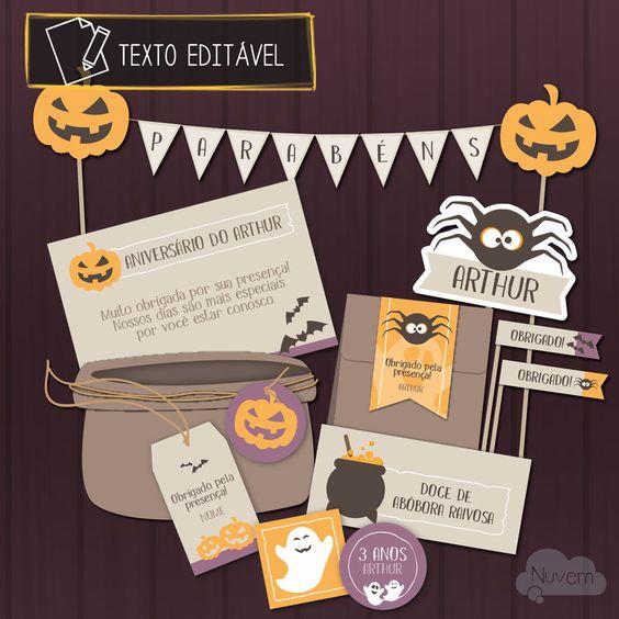Festa Halloween para imprimir