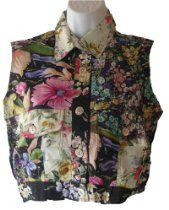 Cotton Express Flowered Sleeveless Oxford Shirt