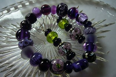 Lampwork Glassbeads by SybillSalabim Armband und Ohrringe