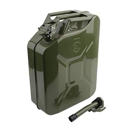 Cartkningts 20 Litre 20l Jerry Can With Spout Practical Motorcycle Fuel Container Portable Oil Water Tank Metal Petrol Cans Oil Water Water Tank Jerry Can