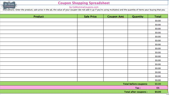 The 25+ best Coupon spreadsheet ideas on Pinterest Budget - coupon sheet template