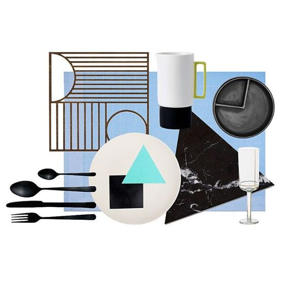 Thank you @elledecorationuk for including our So Sottsass plate and black marble platter in your Graphic Place Setting feature ⚫️⬜️⬛️⚪️ #DarkroomLondon #ElleDecoration #GraphicInteriors