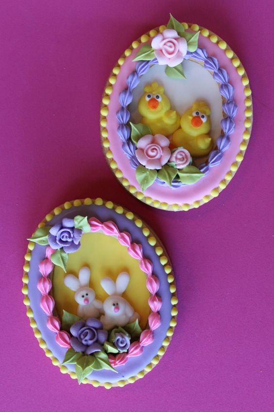 Panorama Easter Egg Cookies by Julia M. Usher: