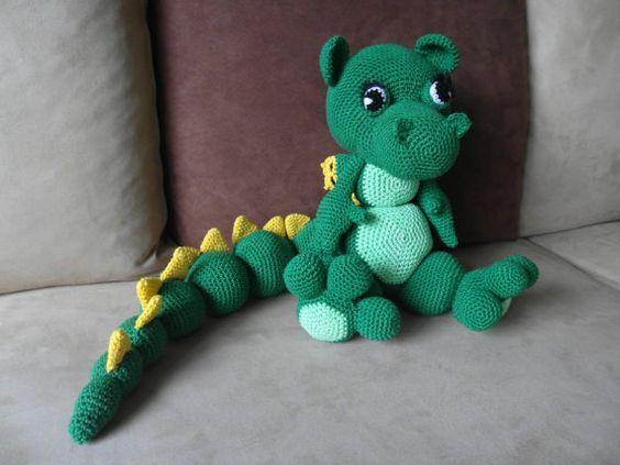 Crochet dinosaur, Crochet dolls and Dolls on Pinterest