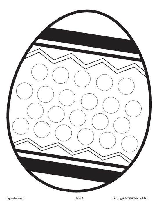 12 Spring Do A Dot Printables Do A Dot Spring Coloring Pages Easter Preschool