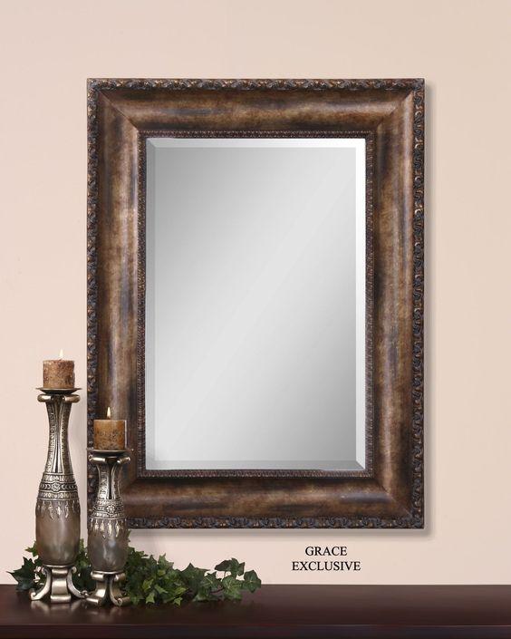 Leola Antique Bronze Mirror