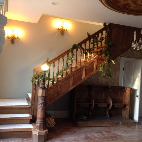 The staircase is 2 pieces of old stairs, 1910s and 1918 houses, with some new added in. I think it turned out grand #restoration #upcyle all things old