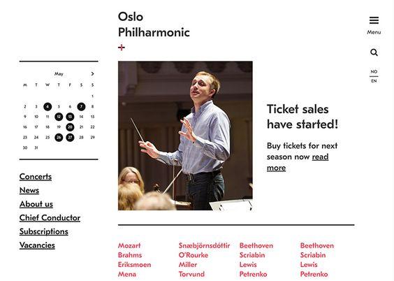 Oslo Philharmonic | CSS Website