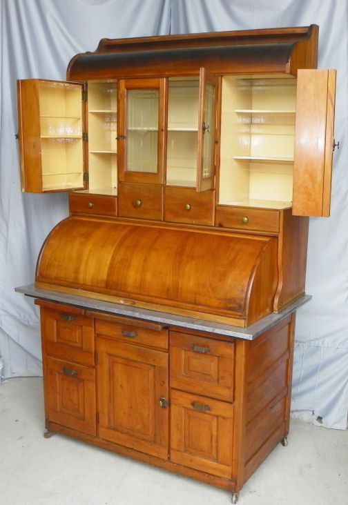Antique Bakers Cabinet Hoosier Co Vintage Kitchen