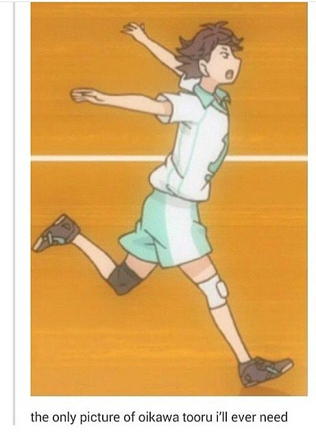 """Oikawa <<< """"look mama I'm a plane! A better plane than Tobio-chan!"""" // OH MY GOSH HE LOOKS LIKE A POKEMON CHARACTER WHAT EVEN"""