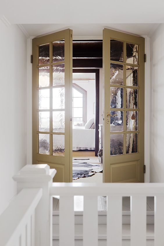 French Doors: Interior French Doors, Rooms Stairs, Bedroom Ideas Decor, Design Ideas, Bedroom Design, Interior Ideas, Master Bedroom, Interior Doors