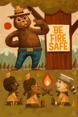 Smokey Bear - Fire Safety School - Lantern Press Artwork