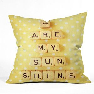 My Sunshine Throw Pillow now featured on Fab.