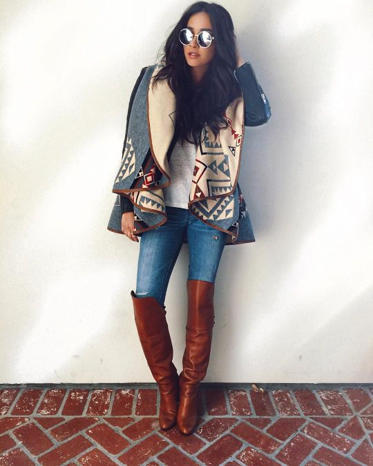 Shay Mitchell - shaym: Temps finally plummeted to a whopping 71 degrees so HELLO WINTER WEAR