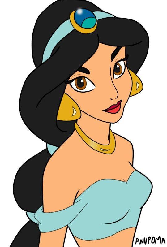 Disney Princess Jasmine Clipart On Ibispaint X Princess Cartoon Disney Princess Drawings Disney Princess Art