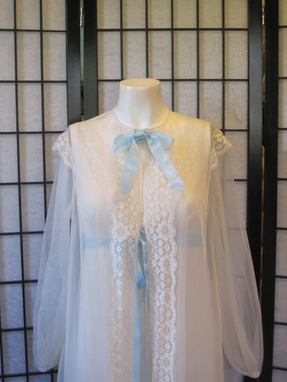 Fabulous Vintage 1950s 1960s Nightgown and Robe by girlgal6, $90.00