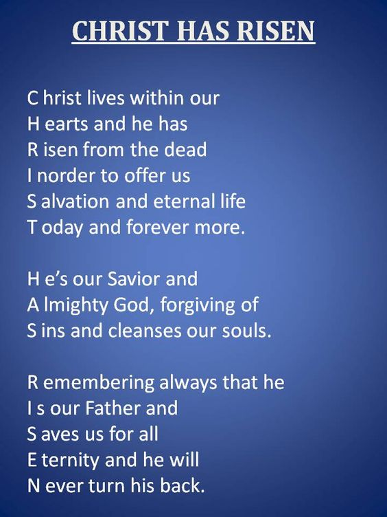 Christ Has Risen Written by Kelly Kiser ©