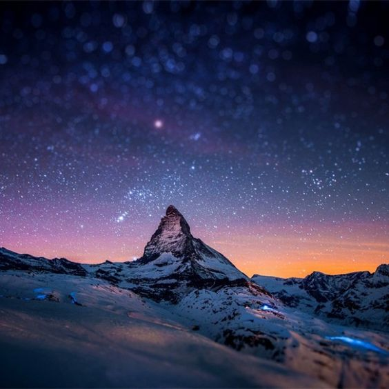 Matterhorn Mountain, Switzerland: Snowy Mountains, Beautiful Places, Earth Pictures, Matterhorn Beautiful, Matterhorn Mountains, Beauty Switzerland, Twinkle, Starry Nights