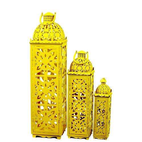 Urban Trends Metal Lanterns Set of Three