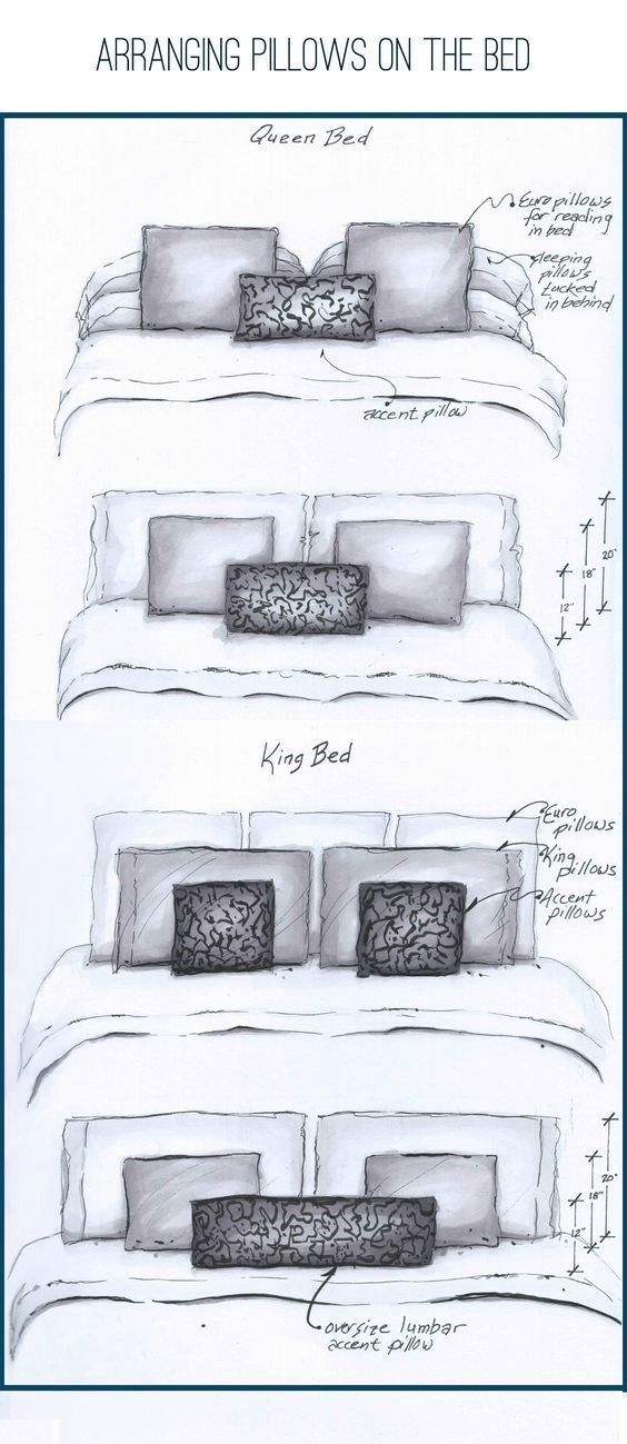 6 Creative Tips On How To Make A Small Bedroom Look Larger Dream Bedrooms Arranging Pillows On The In 2020 Bedroom Arrangement Bed Pillow Arrangement Bed Pillows
