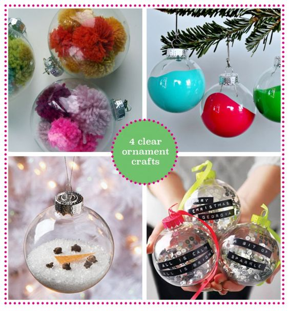 Clear ornaments flats and creative on pinterest for Clear ornament craft ideas